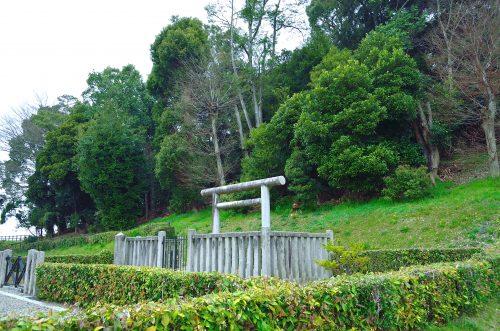 大市墓(箸墓古墳) 拝所