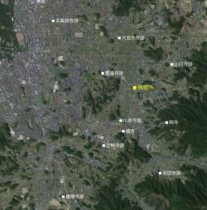飛鳥寺 位置図
