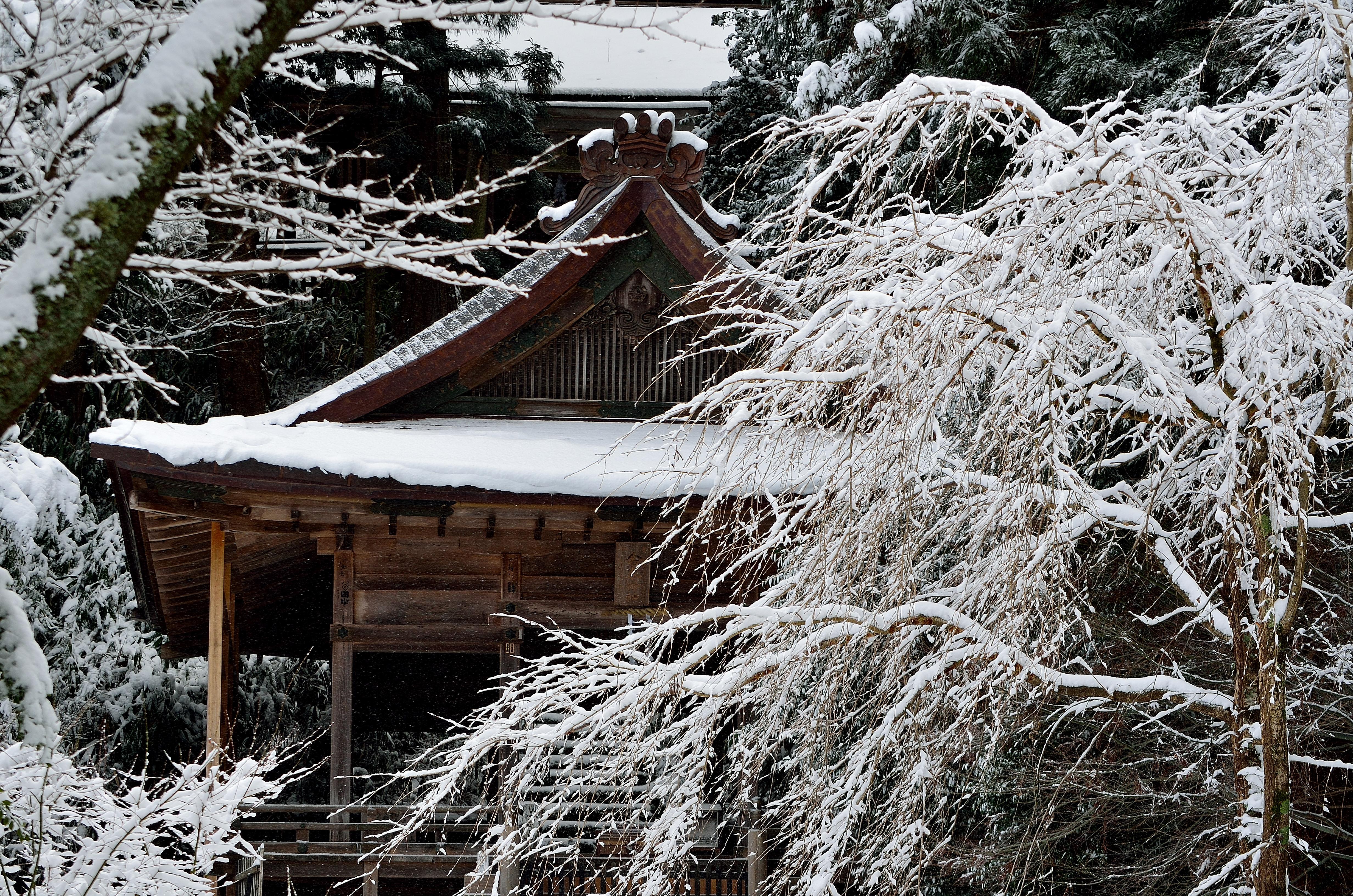 金峯神社雪景