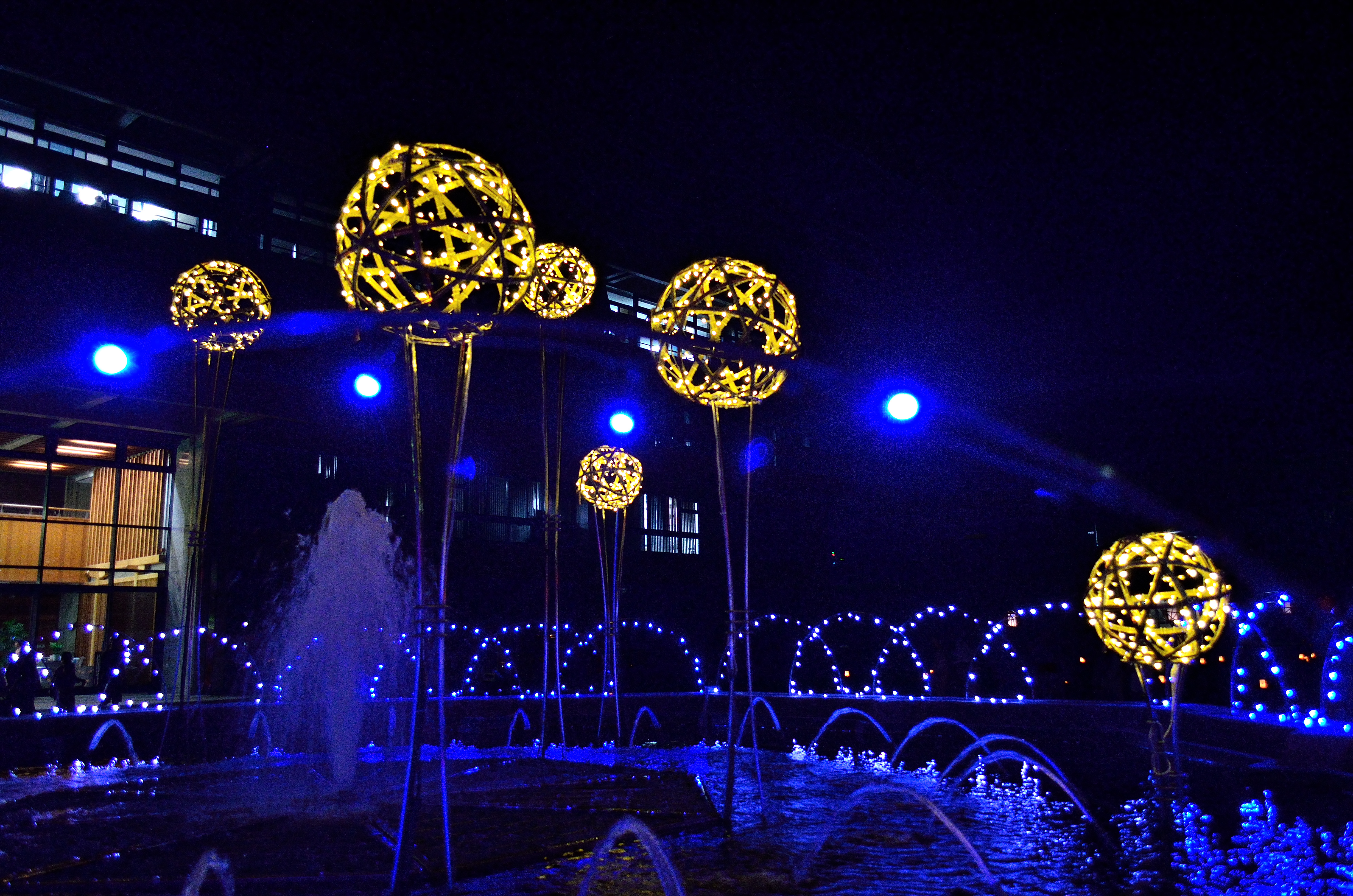 なら燈花会2013 奈良県庁前の噴水
