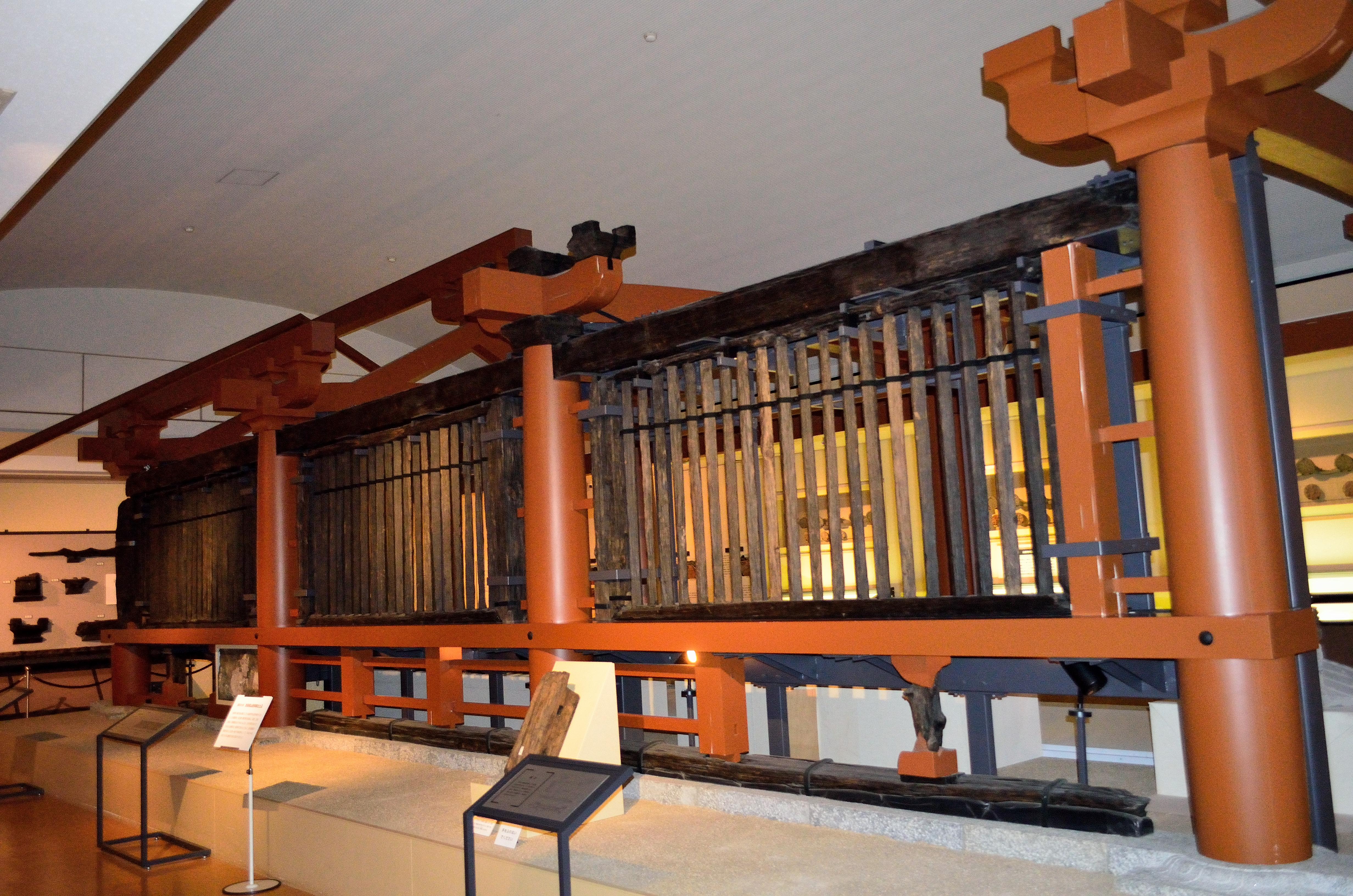 山田寺跡 東面回廊(復元)