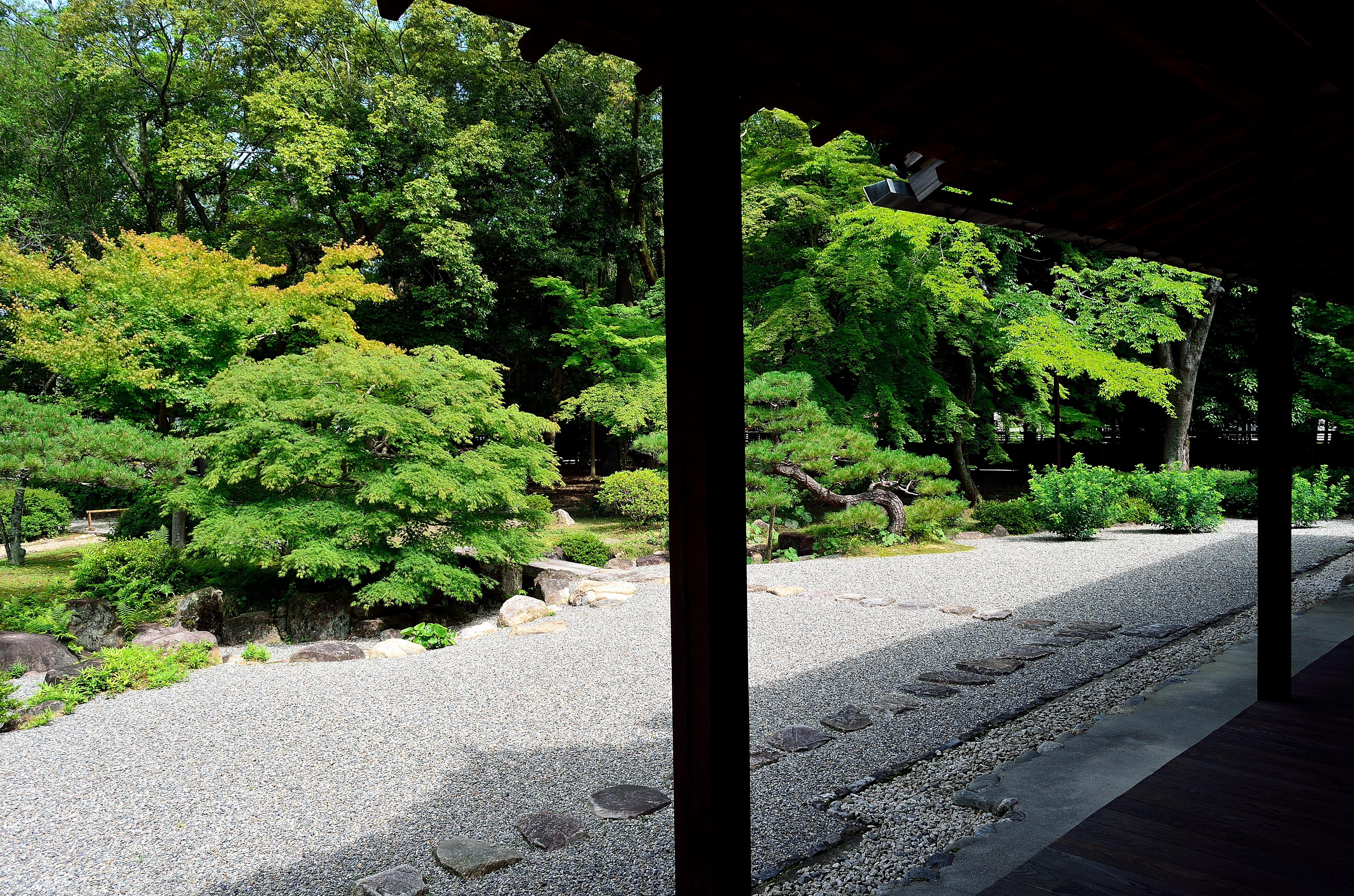 橿原神宮文華殿 庭園風景(西向き)