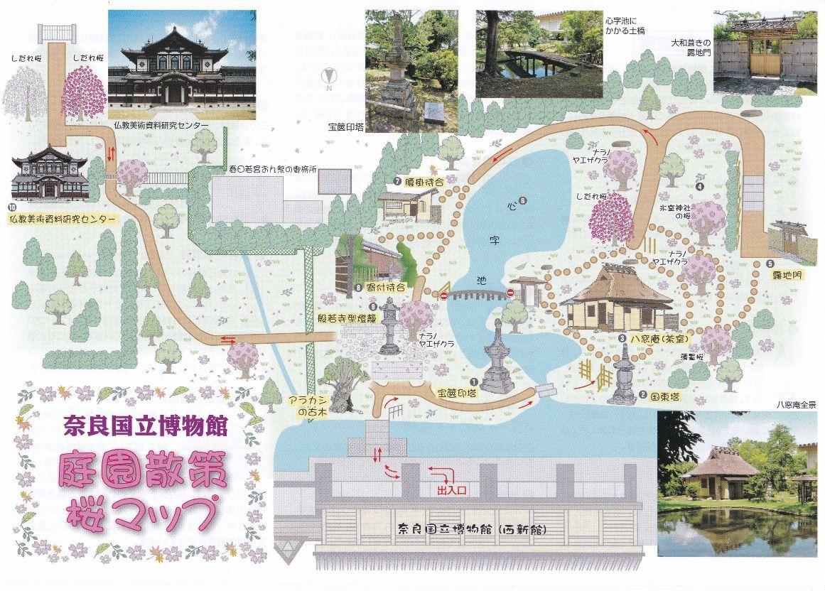 奈良国立博物館 庭園散策マップ