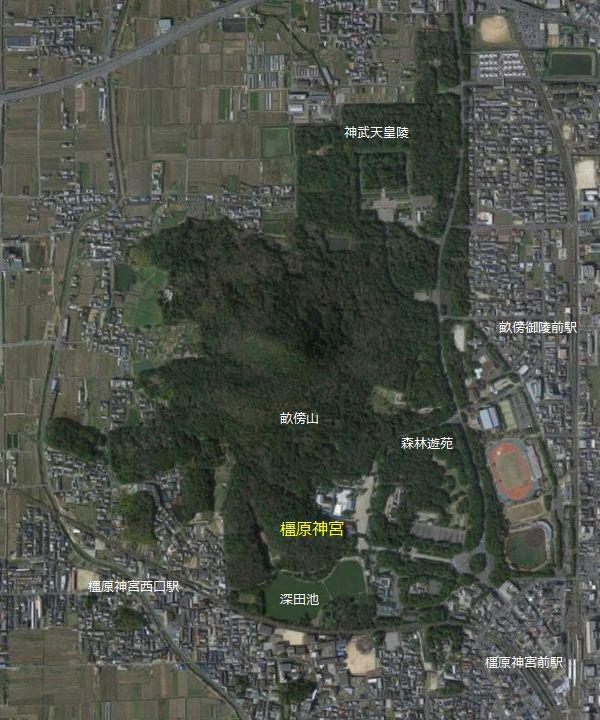 橿原神宮 位置図
