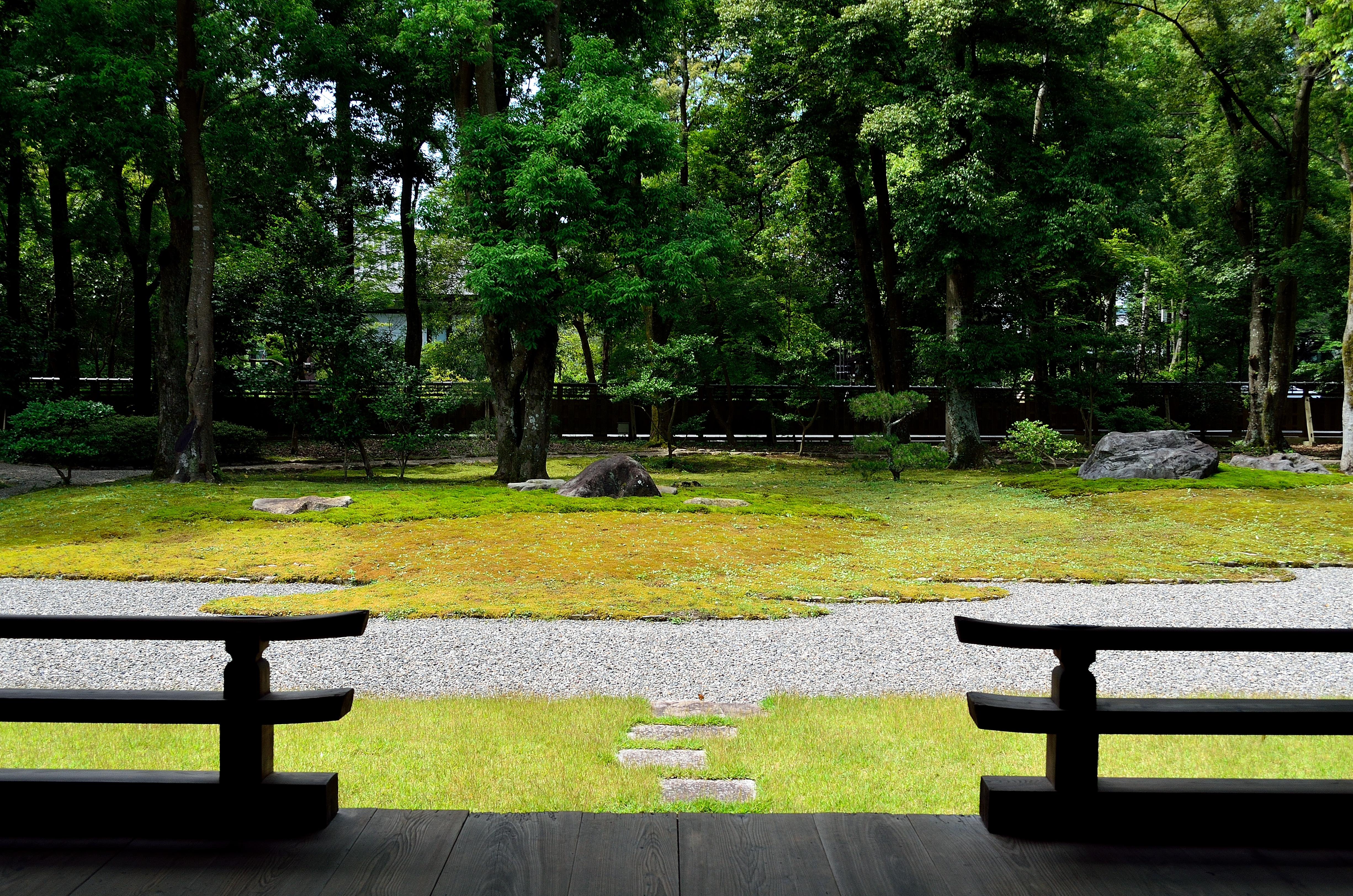 橿原神宮文華殿 庭園風景