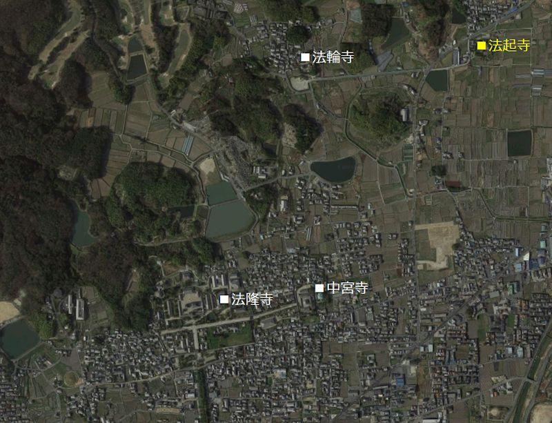 法起寺 位置図