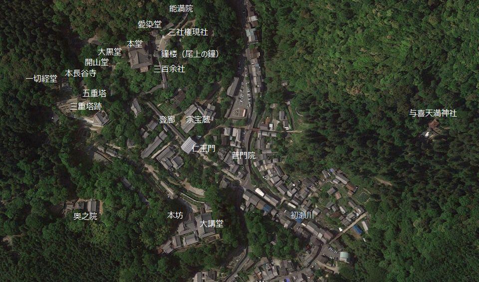 長谷寺境内 位置図