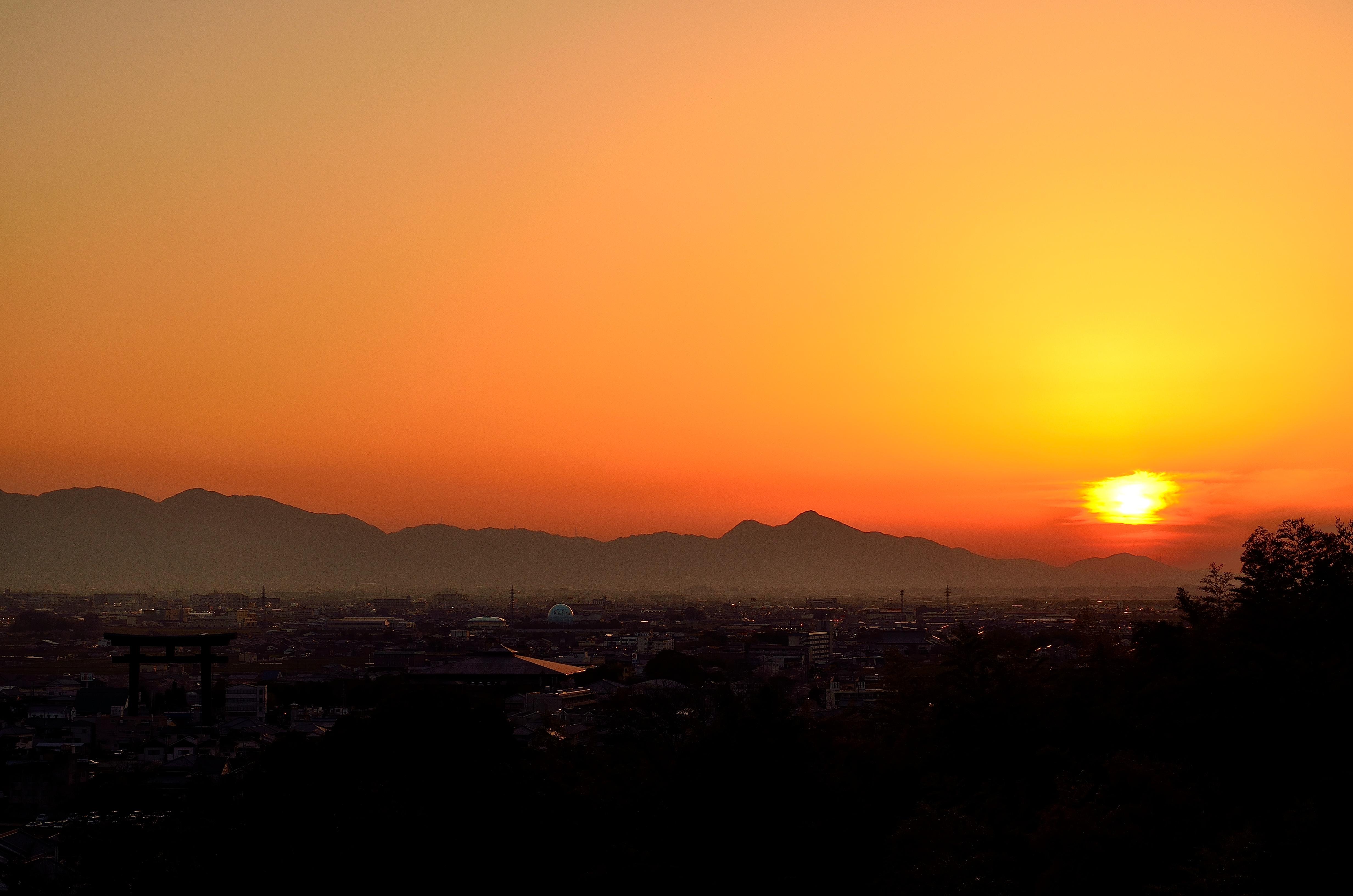大神神社 大美和の杜からの夕景