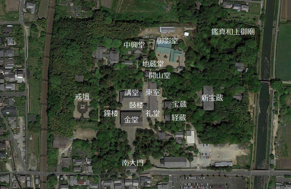 唐招提寺境内 位置図