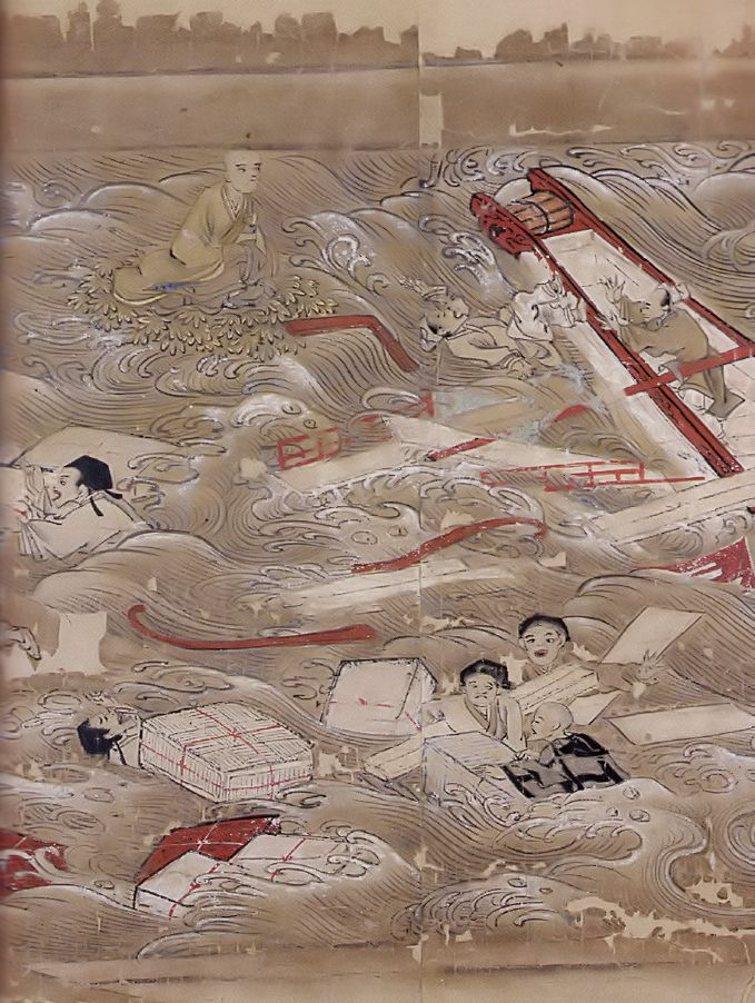 唐招提寺 東征伝絵巻(巻2第1段)