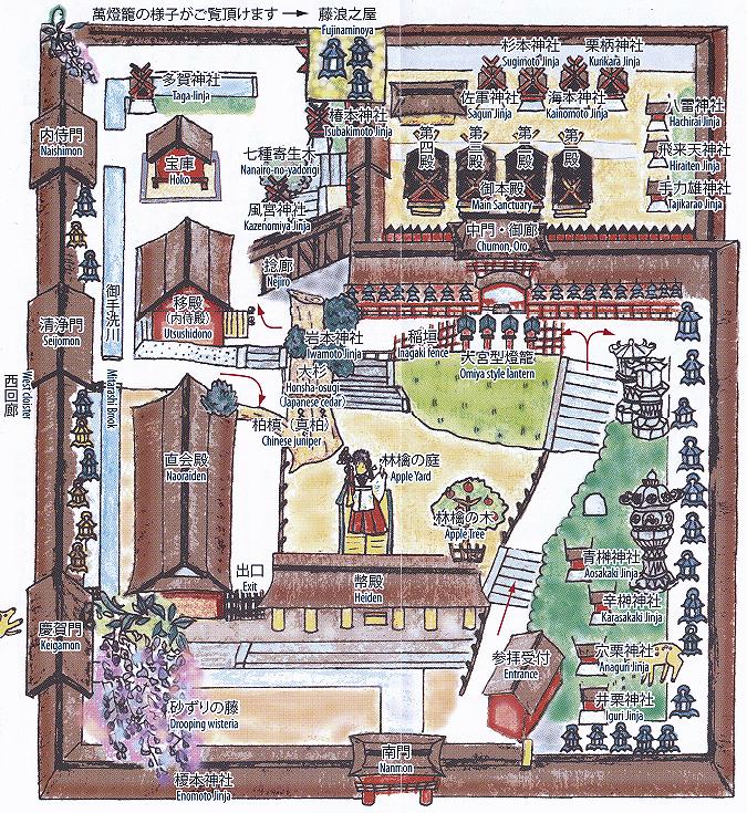 春日大社 回廊内図
