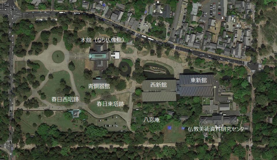 奈良国立博物館 詳細図