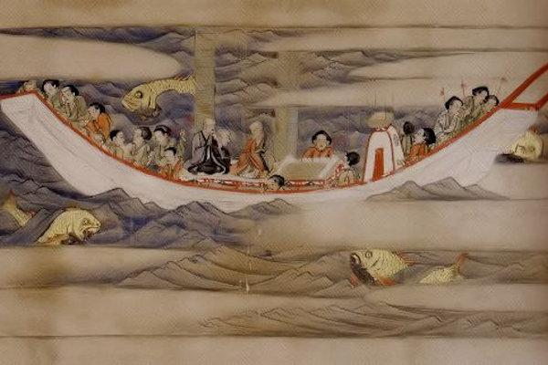 唐招提寺 東征伝絵巻(巻3第1段)