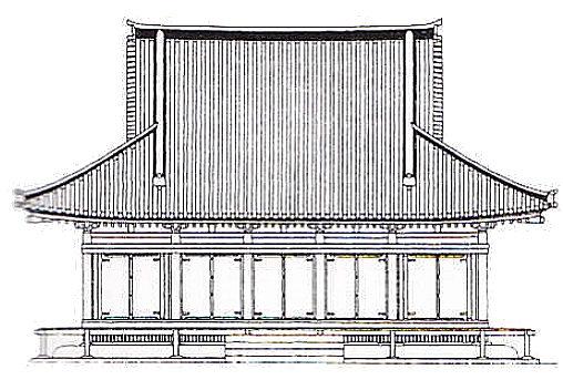 大直禰子神社社殿 正面図