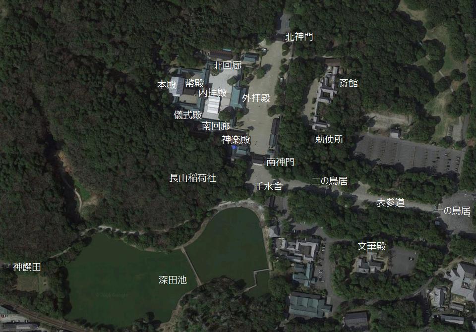 橿原神宮 境内図