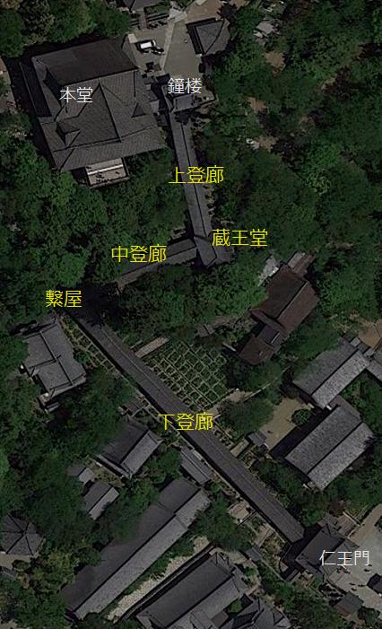長谷寺登廊 位置図