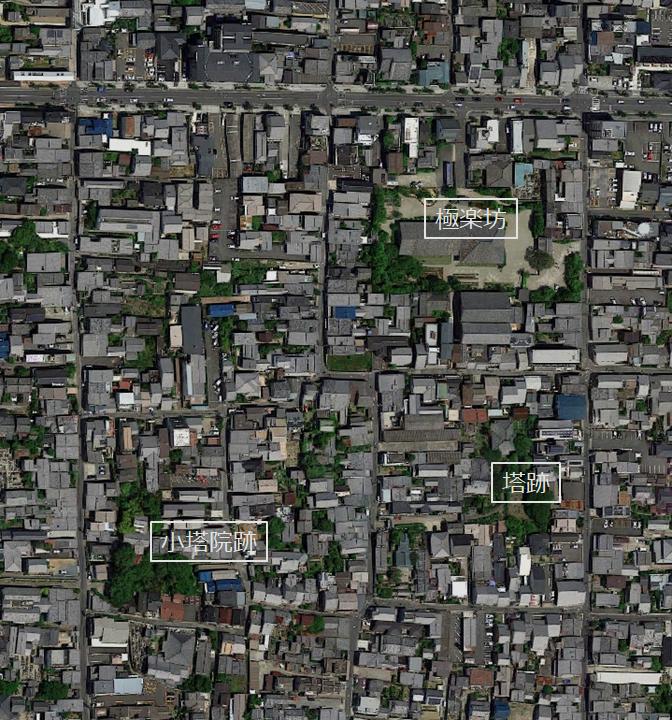 元興寺 位置図