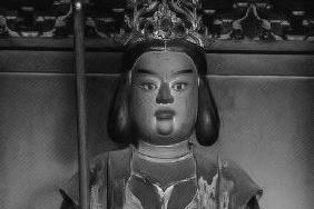 長谷寺本堂 赤精童子立像