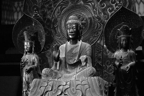 法隆寺金堂 釈迦三尊像