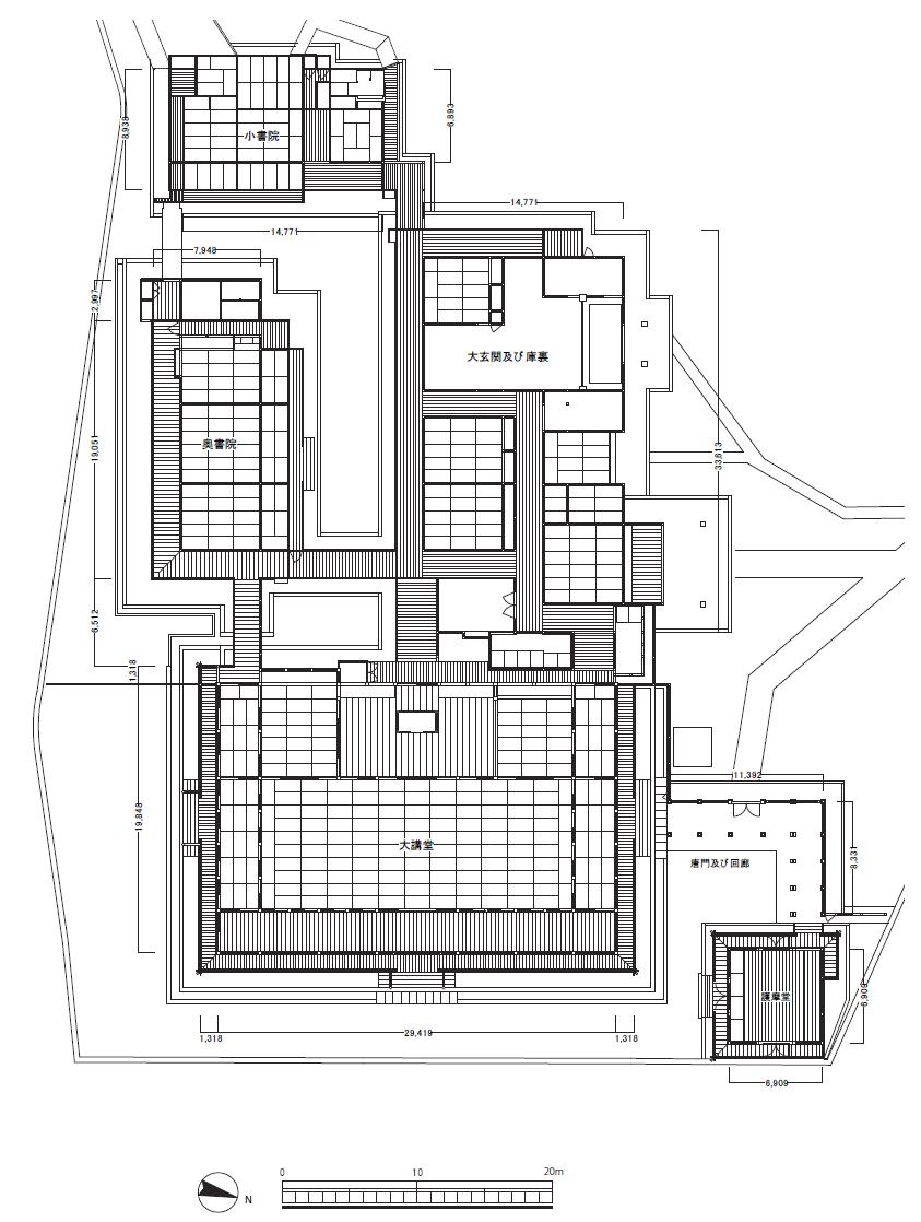 長谷寺本坊 平面図