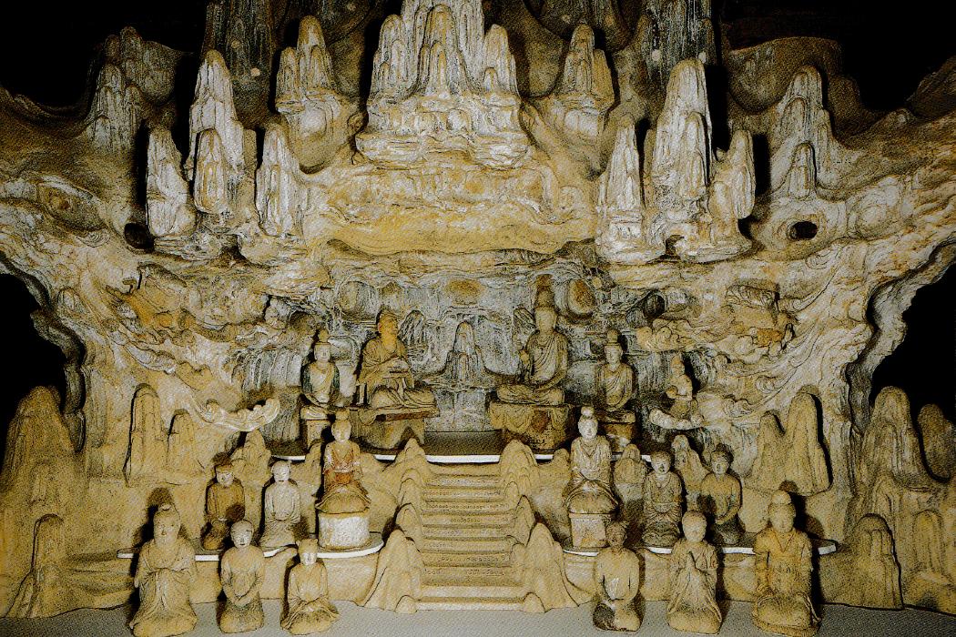 法隆寺五重塔 塔本塑像 維摩詰像土