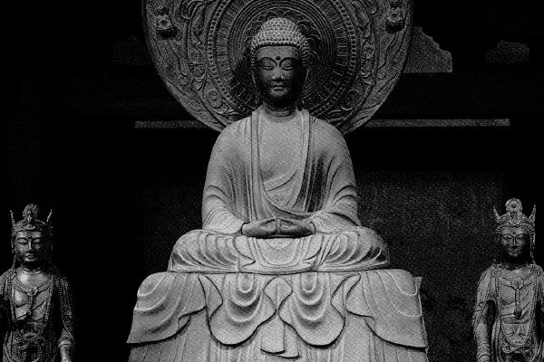 法隆寺金堂 阿弥陀三尊像