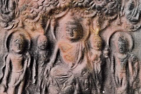山田寺跡 銅板五尊像
