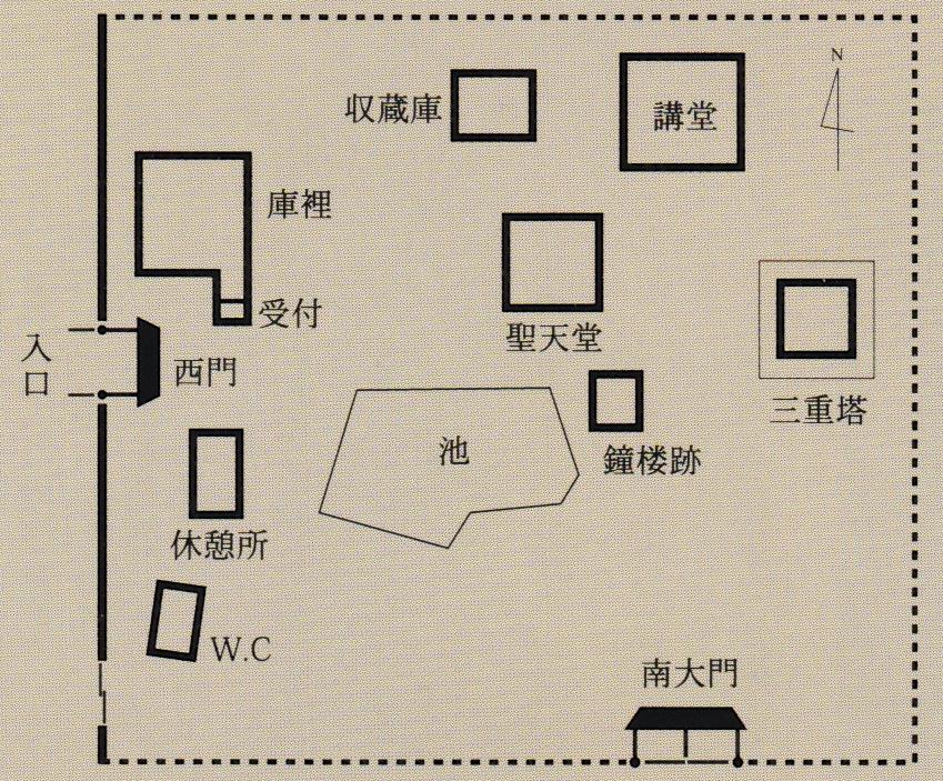 法起寺 境内図