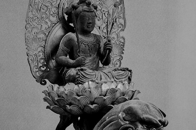 般若寺 文殊菩薩騎獅像