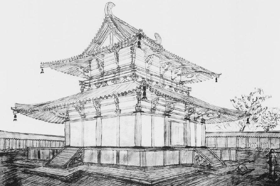 山田寺跡 金堂再現図