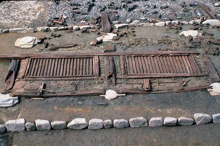 山田寺跡 東面回廊