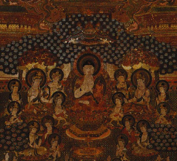 元興寺 軸装著色智光曼荼羅図