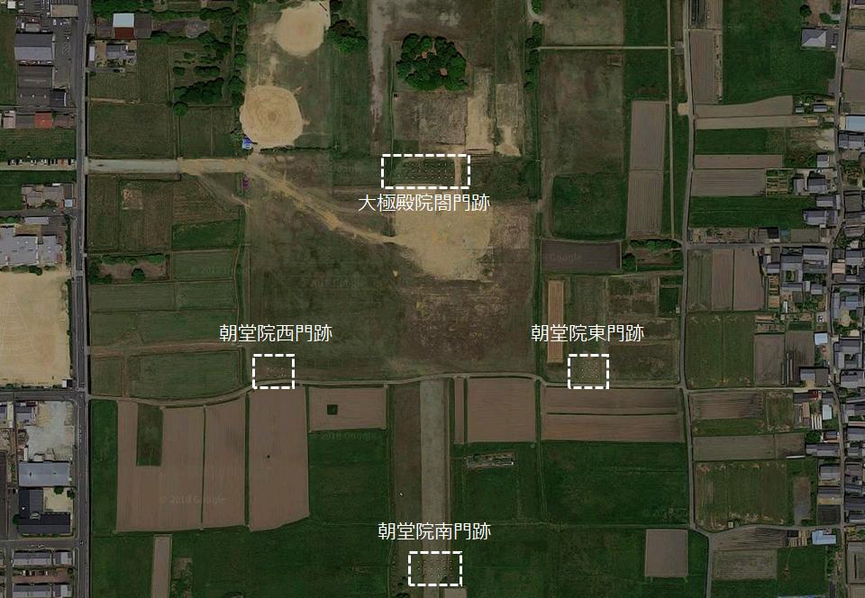 藤原宮跡 朝堂院の各門跡 位置図