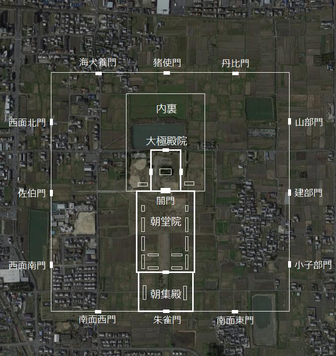 藤原宮跡 位置図